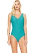 Gottex Essence Jade Surplice High Back One Piece Swimsuit