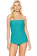 Gottex Essence Jade Bandeau Skirted One Piece Swimsuit