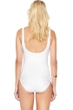 Gottex Essence White Square Neck High Back One Piece Swimsuit