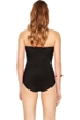 Gottex Essence Black Bandeau Skirted One Piece Swimsuit