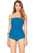 Gottex Essence Azure Bandeau Skirted One Piece Swimsuit