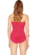 Gottex Essence Rose Bandeau Skirted One Piece Swimsuit
