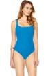 Gottex Essence Azure Square Neck High Back One Piece Swimsuit