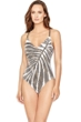 Gottex Golden Sand Underwire V-Neck Strappy Back One Piece Swimsuit