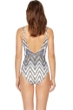 Gottex Golden Sand Square Neck Zip Front One Piece Swimsuit
