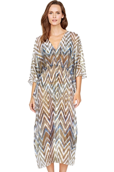 Gottex Golden Sand V-Neck Caftan