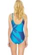 Gottex Kaleidoscope V-Neck Surplice High Back One Piece Swimsuit