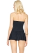 Gottex Lattice Black Bandeau Swimdress