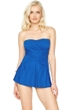Gottex Lattice Royal Blue Bandeau Swimdress