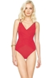 Gottex Lattice Red Surplice One Piece Swimsuit