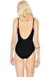 Gottex Lattice Black Square Neck One Piece Swimsuit