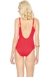 Gottex Lattice Red Square Neck One Piece Swimsuit