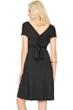 7-in-1 Gottex Lattice Black Dress