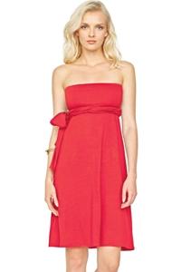 7-in-1 Gottex Lattice Red Dress