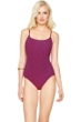 Gottex Landscape Cranberry Round Neck One Piece Swimsuit