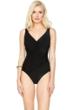 Gottex Landscape Black Surplice One Piece Swimsuit