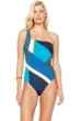 Gottex Maritime Blue One Shoulder One Piece Swimsuit