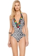 Gottex Mozambique Plunge Neck Cut Out One Piece Swimsuit