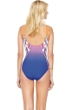 Gottex Ombre Iris Sunrise Underwire V-Neck Strappy Front One Piece Swimsuit