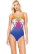 Gottex Ombre Iris Sunrise Square Neck One Piece Swimsuit