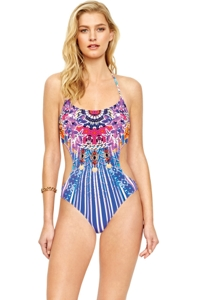 Gottex Sarasana V-Neck Cut Out One Piece Swimsuit