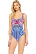Gottex Sarasana Square Neck High Back One Piece Swimsuit