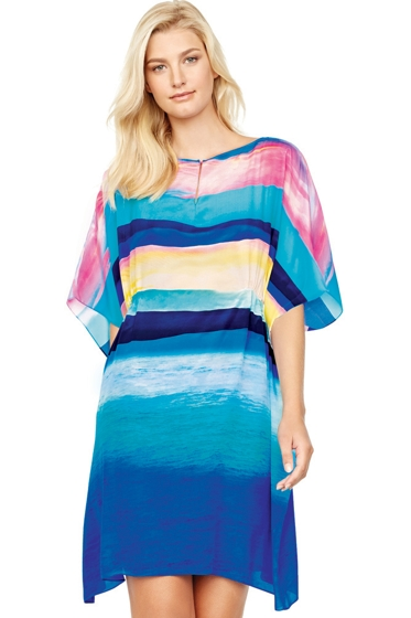 Gottex Seascape Sunrise Silk Beach Dress