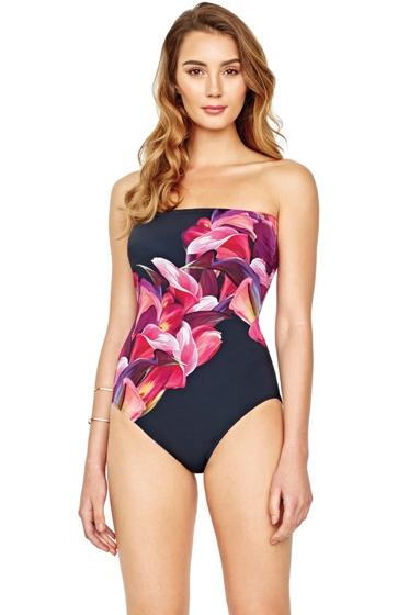 Gottex Sangria Bandeau One Piece Swimsuit