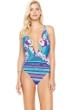 Gottex Samosir Deep Plunge Halter One Piece Swimsuit