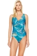Gottex Tourmaline Surplice High Back One Piece Swimsuit