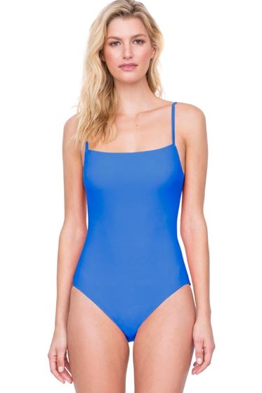 Gottex Au Naturel Dusk Blue Square Neck Lingerie Underwire One Piece Swimsuit