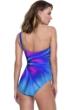 Gottex Belle Fleur Blue One Shoulder One Piece Swimsuit