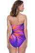 Gottex Belle Fleur Purple Bandeau One Piece Swimsuit