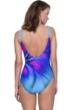 Gottex Belle Fleur Blue Square Neck One Piece Swimsuit