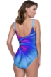 Gottex Belle Fleur Blue Square Neck High Back One Piece Swimsuit