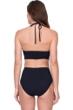 Gottex Cleopatra Queen of Egypt Black Mesh Embroidered Halter High Neck Velvet One Piece Swimsuit