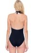 Gottex Divine Black V-Neck Halter One Piece Swimsuit
