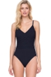 Gottex Divine Black V-Neck Lingerie One Piece Swimsuit