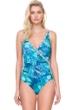 Gottex Felicity Blue Surplice One Piece Swimsuit