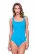 Gottex Jazz Turquoise Textured Square Neck One Piece Swimsuit