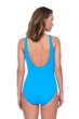 Gottex Jazz Turquoise Textured Mastectomy High Neck One Piece Swimsuit