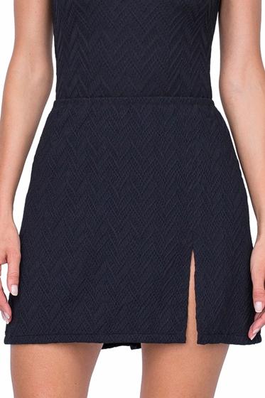 Gottex Jazz Black Textured Cover Up Side Slit Skirt