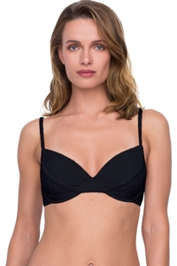 Gottex Jazz Black Textured Push Up Underwire Bikini Top