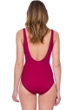 Gottex Lattice Wine Surplice One Piece Swimsuit