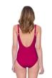 Gottex Lattice Wine Square Neck One Piece Swimsuit