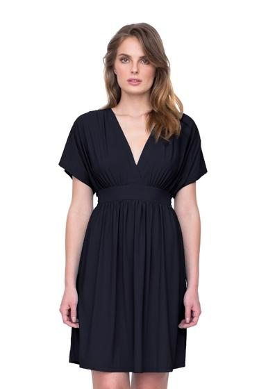 Gottex Lattice Black Beach Cover Up Dress