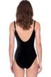 Gottex Makeda Queen of Sheba Black Mesh Laser Cut Lingerie Velvet One Piece Swimsuit