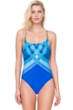 Gottex Mystic Gem Square Neck Strappy Back One Piece Swimsuit
