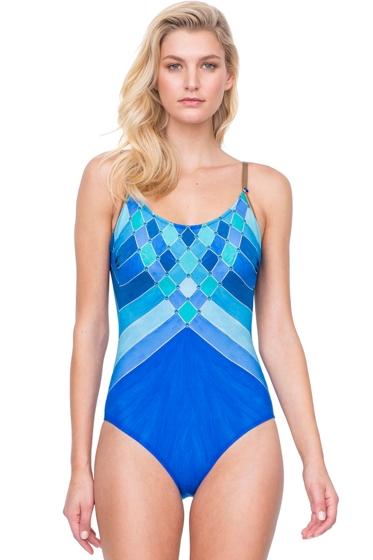 Gottex Mystic Gem D-Cup Round Neck One Piece Swimsuit
