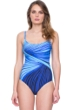 Gottex Northern Lights Lingerie Scoop Neck D-Cup Underwire One Piece Swimsuit